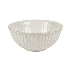 Lamorran Medium serving bowl, D23.5 x H10.2cm, white