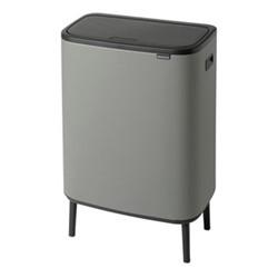 Bo Hi touch bin, 30 litre, mineral concrete grey