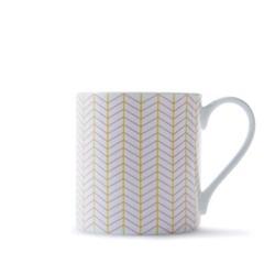 Ebb Mug, H9cm - 37.5cl, pink/yellow