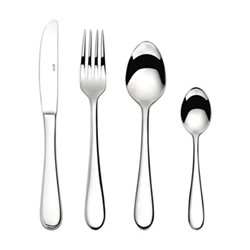 Glacier 16 piece cutlery set, mirror finish polished