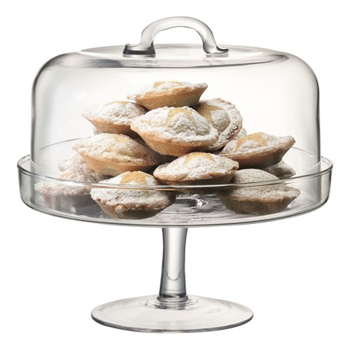 Serve Cakestand and dome, 26.5/24cm, clear