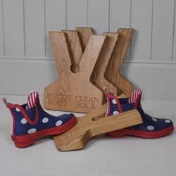 Muddy Boot Clean Sock Boot jack, 31 x 24 x 3.5cm, oak