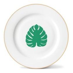 Tropical Leaf Side plate, Dia21cm, gold rim