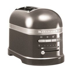 Artisan 2 slot toaster, medallion silver
