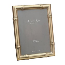 """Wide Bamboo Photograph frame, 8x10"""", gold"""