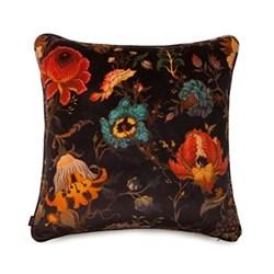 Artemis Large velvet cushion, 60 x 60cm, black