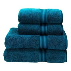 Supreme Hygro Pair of bath towels, 75 x 137cm, kingfisher