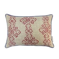 Mali Oblong Cushion, L50 x W35cm, Ruby