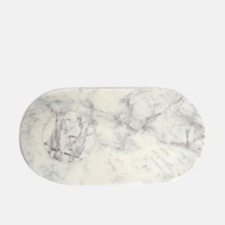 Astell Large marble serving board, H19 x W35cm, White