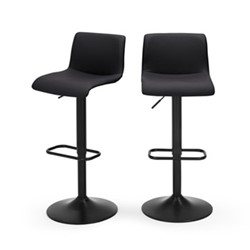 Sean Pair of adjustable bar stools , H85-105 x W41 x D43cm, black