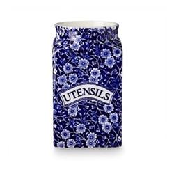 Calico Storage jar - Utensils, blue