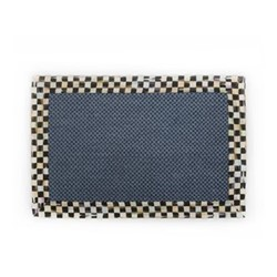 Courtly Check Rug, L91.44 x W60.96cm, black & white, blue
