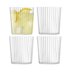Gio Line Set of 4 tumblers, 390ml, clear