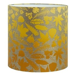Falling Leaves Lampshade, 36 x 36cm, storm/turmeric ombre