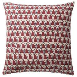Linnaeus Arches Cushion cover, L56 x W56cm, burgundy/indigo