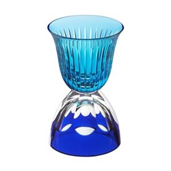 Les Endiables Chambord glass, blue