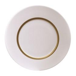 Cronos Salad Plate, 21cm, white/gold rim