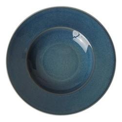 Art Glaze Rimmed bowl, D27 x H4cm, candied sky