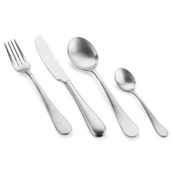 Natura Ice 24 piece cutlery set, brushed stainless steel