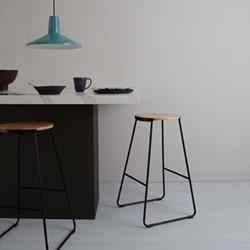 Hector Pair of bar stools, H70cm, natural