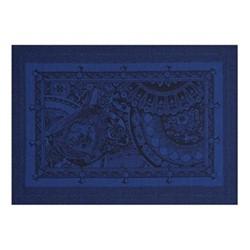 Porcelaine Set of 4 placemats, 50 x 36cm, china blue