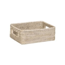 Ashcroft Small box tray, L27 x D21 x H9cm, silver reed