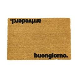 Italian Doormat - Arrivederci, black/brown