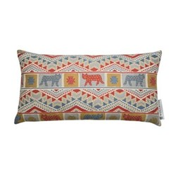 Tiger-Tiger Cushion, 42 x 70cm, red multi