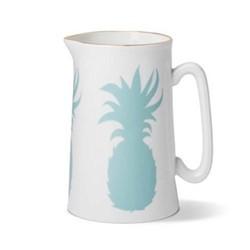 Pineapple Jug, Dia9 x H13.5cm - 1 pint, gold rim