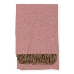 Two Tone Merino Throw , H150 x W180cm, Rose