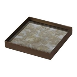Fossil Organic glass tray - small, 16 x 16 x 3cm