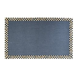 Courtly Check Rug, L152.4 x W91.44cm, black & white, blue