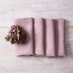 Alma Set of 4 linen napkins, 42 x 42cm, blush