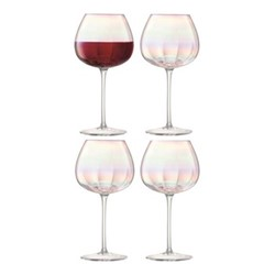 Pearl Set of 4 red wine glasses, 460ml, clear