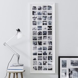 Year in Memories Photograph frame - 52 aperture, H133.5 x W48cm, white