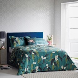 Coppice Super king size duvet cover, peacock