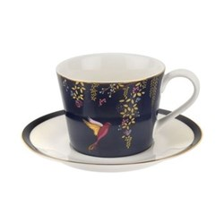 Chelsea Collection Teacup and saucer, 20cl, navy