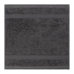 Egyptian Cotton Set of 3 face cloths, 30 x 30cm, charcoal