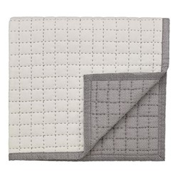 Dhaka Quilted throw, 130 x 170cm, charcoal