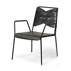 Torso Lounge chair, 72.5 x 60 x 78.5cm, black