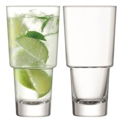 Mixologist Pair of cocktail highball glasses, 400ml