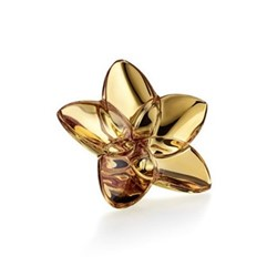 Bloom Flower ornament, W4 x L9cm, gold