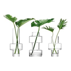 Metropole - City Set of vases, clear