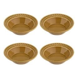 Botanic Garden Harmony Set of 4 cereal bowls, 16cm, amber