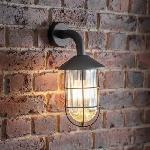 Cobalt Wall light, H36 x W20 x D16cm, Black
