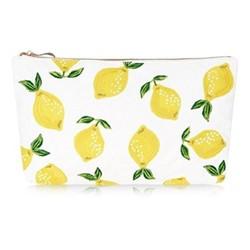 Lemons Pouch, H20 x L30cm, blanc