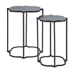 Gilmore Side table set, W40 x H51 x D40cm, iron/metal