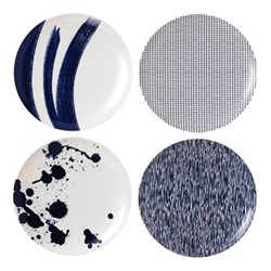 Pacific - Melamine Set of 4 salad plates, 20.5cm, blue
