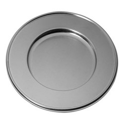 Original Vintage Charger plate, Dia33cm, stainless steel