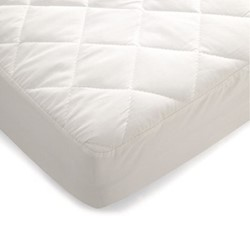 Quilted waterproof mattress protector (cotbed), L140 x W70 x D14cm, white